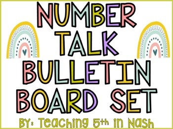 Math Number Talk Bulletin Board Set
