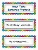 Math Number Talks Sentence Starters