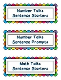 Math Talks Sentence Starters