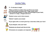 Math:  Number Talks (Smart Board + PowerPoint) handouts/directions/examples