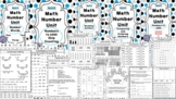 Math Number Unit BUNDLE- 5 Practice Books WITH Review and