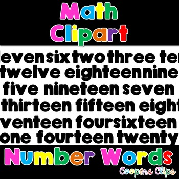 Math:Number Word Filled Clipart