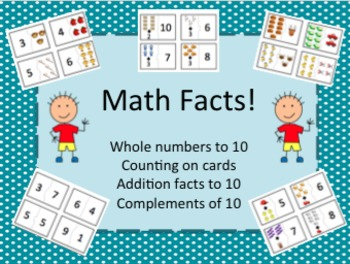 Whole Numbers to Ten, Complements of Ten, Addition Facts to Ten, and Counting On