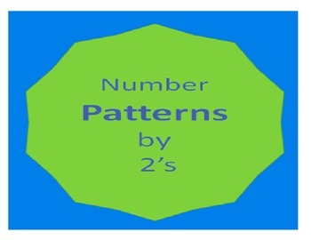 Math Number patterns by 2's common core cscope