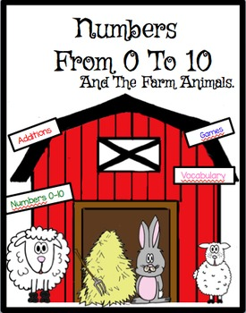 Math Numbers 0 to 10 and farm animals.