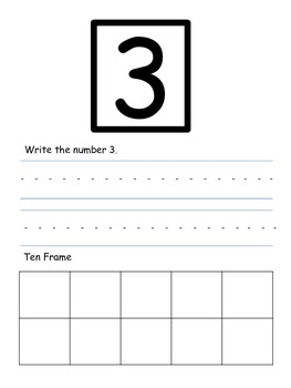 Math - Numbers 1-10 Writing and Ten Frame