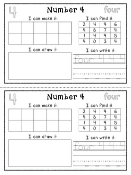 Math Numbers Activity Book- Math Center, Math Small Group Activities