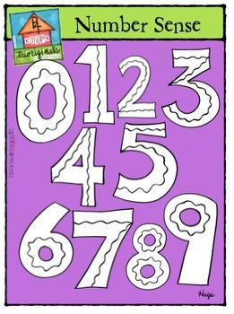 Math Numbers B/W (P4 Clips Trioriginals Digital Claip Art)
