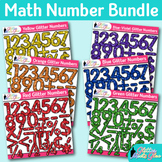 Math Numbers Clip Art Bundle {Great for Classroom Decor &