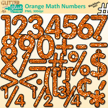 Math Numbers Clip Art Bundle | Great for Classroom Decor & Resources