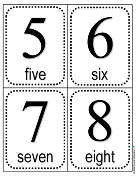 Math: Numbers - Count and Match Task Cards - Level 1