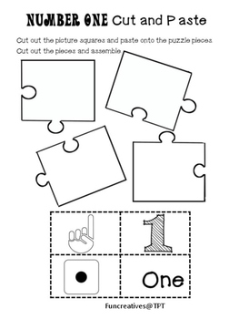 Math Number Puzzles, Cut and Paste Activites