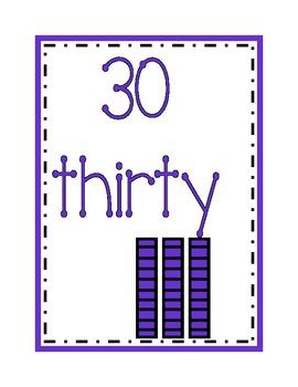 Math Numbers Display