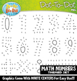 Math Numbers Dot-To-Dot Clipart {Zip-A-Dee-Doo-Dah Designs}