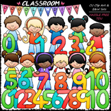 Math Numbers Kids - Clip Art & B&W Set