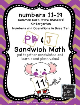 Math Numbers in Base Ten PB&J Sandwich Shop -  CCSS Based