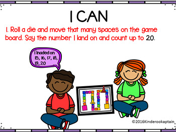 Math Numeracy: Counting up and down from 10 and 20 game boards