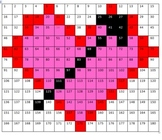 Math Numeracy Game Hidden Picture Valentines Day