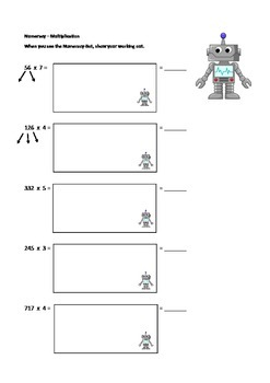 Math (Numeracy) Worksheet - Multiplication. Maths.
