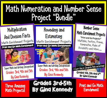 Math Numeration Projects Enrichment Bundle, Multiplication, Division, and More