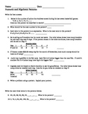 Math Numeric and Algebric Patterns