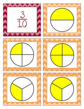 Math-O Card Game for 4.NF.1 Equivalent Fractions