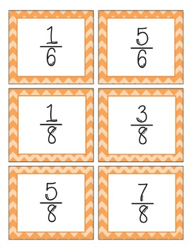 Math-O Card Game for CCSS 3.NF.3 Equivalent Fractions-3.NF.A.3-Common Core