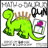 Math-O-Saurus FUN! {Hands-on Addition & Subtraction}