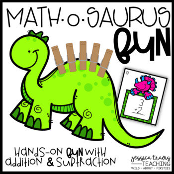 Math-O-Saurus FUN! {Hands-on Addition & Subtraction}