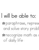 Math Objectives - 2nd Grade Math Expressions Unit 1