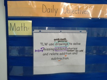 Math Objectives - Engage NY First Grade Module One