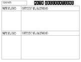 Math Observation Document