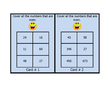 Math Odd and Even Numbers