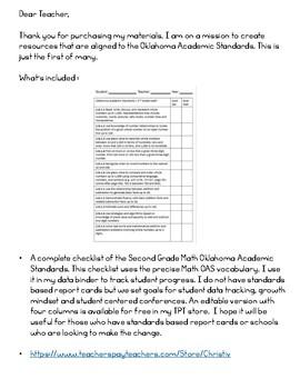 Math Oklahoma Academic Standards - 2nd Grade Math Goals