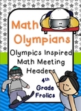 Math Olympicans - Math Meeting Headers Olympics Style