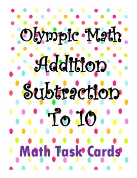 Math Olympics-Addition Subtraction to 10