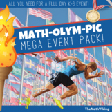 Math Olympics Mega Event Pack: Games, Posters, Certificates + Google Doc Planner