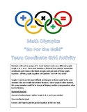 "Math Olympics Coordinate Grid Graphing Activity ""Go For the Gold"""