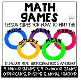 Math Games: Mean, Median, Range, Outliers & Graphs