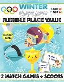 Math Olympics Place Value Scoot and Match Game Multi Pack 2 NBT.A1 2.NBT.A3