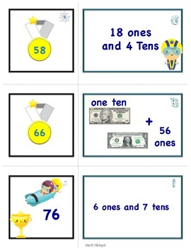 Winter Place Value Scoot and Match Game Multi Pack 2 NBT.A1 2.NBT.A3
