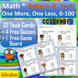 Numbers & Op. One More, One Less Task Cards CCSS 1.NBT.5 Grades 1-2 Quiz Game
