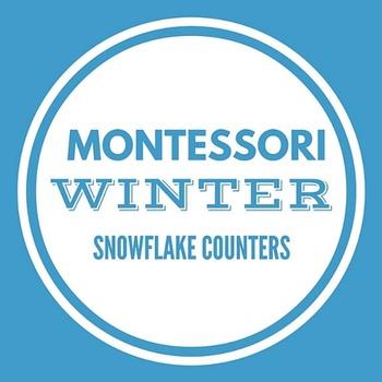 Montessori Counters - Winter Snowflake Theme