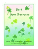 Math Open Response for St. Patrick's Day