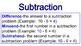 Math Operation Mini Posters