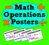 Math Operation Vocabulary