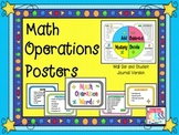 Math Operations Word Wall