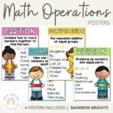 Math Operation Posters {Rainbow Theme}