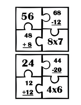 Addition, Subtraction, Multiplication Puzzles