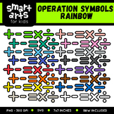 Math Operation Symbols Rainbow Clip Art